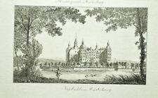c1820 Schloss Moritzburg Dresden Kupferstich-Ansicht Wiederhold