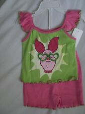 Disney Girl's Piglet Size 12m Shirt Shorts