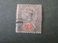 *CEYLON, SCOTT # 175.75c. VALUE BLUE & ORANGE 1905 QV ISSUE USED