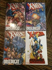 X-Men Road to Onslaught TPB 1 2 3 Onslaught Aftermath Lot