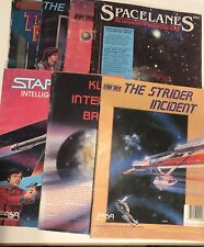 Vintage Star Trek Role Playing Game book magazine lot of 7 SpaceLanes Fasa Corp