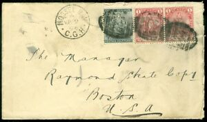 EDW1949SELL : CAPE OF GOOD HOPE Interesting 1896 cover to USA.