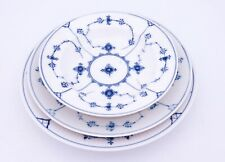 Set of 3 plates #170, 175 & 177 - Blue Fluted - Royal Copenhagen