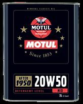 MOTUL CLASSIC OLIO MOTORE PER AUTO VINTAGE DOPO IL 1950  20W50 (2 LT)