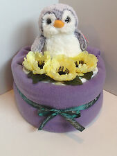 NEW 1 Tier Luxury Unisex Penguinch Penguin Baby Nappy Cake #Baby Shower