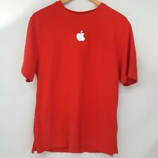 Apple Store Employee L Red Shirt Embroidered Logo Pique Knit Cotton Macintosh