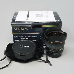 Rokinon 8mm f/3.5 Aspherical Fisheye, Manual Focus Lens for Nikon F Mount #FE8MN