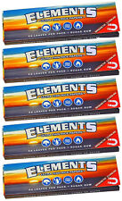 5 Pack Elements Ultra Thin Rice 1.25 Cigarette Rolling Papers 250 Leaves 8311-5