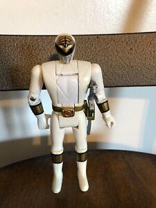 1993 Bandai Rare White Mighty Morphin Head Flip Power Ranger Action Figure