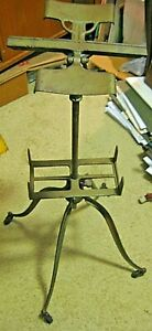 Antique Cast Iron Bible Library Dictionary Music Adjustable Stand Vintage