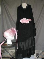 Victorian Dress Edwardian Civil War Style Black Pink Custom Designed