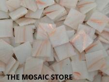 White Gold Streak Glass Tiles 2cm - Mosaic Art & Craft Supplies