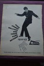 Ancienne publicité de presse - 1962 - VÊTEMENTS MAYA JEUNE HOMME JOHNNY HALLYDAY