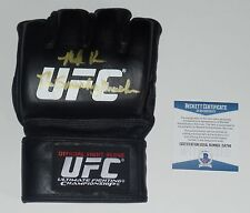 MARK KERR SIGNED AUTO'D UFC OFFICIAL GLOVE BAS COA PRIDE FC THE SMASHING MACHINE
