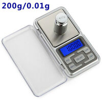 200g x 0.01g Digital Scale Jewelry Portable Pocket Balance Gram OZ LCD Herb Gold
