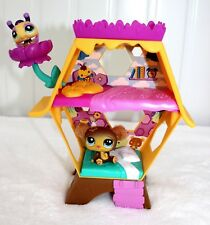 LITTLEST PETSHOP LPS SET LOT HONEY HIDEAWAY #2467 BEE 2468 BEAR CUDDLY