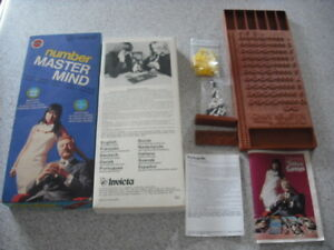 INVICTA NUMBER MASTER MIND BOARD GAME BOARDGAME 1976 WITH INVICTA CATALOGUE