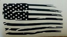 "Distressed American Flag Vinyl Decal Sticker 12""x6"""