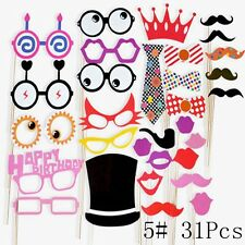 Wedding stickerdecal decorations ebay diy photo booth props wedding birthday party flamingo selfie mustache fun 5 31 pcs junglespirit Images