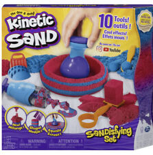 Kinetic Sand Sandisfying Set with 10 Different Tools & 2lbs of Sand
