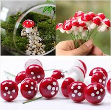 10X Miniature Mushroom Fairy Garden Ornament Dollhouse Pot Decor DIY Craft DSUK