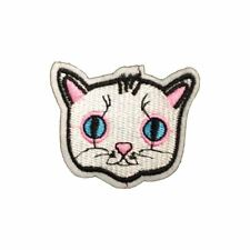 Cat Head (Iron On) Embroidery Applique Patch Sew Iron Badge