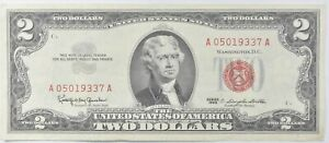 Crisp 1963 Red Seal $2 United States Note - Better Grade *796