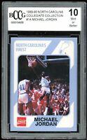 1989-90 North Carolina Collegiate Collection #14 Michael Jordan BGS BCCG 10 Mint