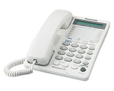 PANASONIC KX-TS208W 2-Line Corded Feature Phone w/LCD - White