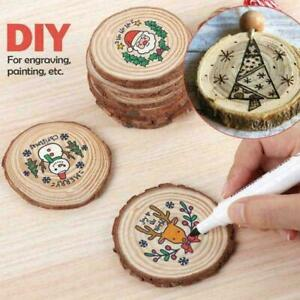 1 x Natural Round Wood Disc Slices Circle Shape Rustic Hobbies Wedding L6S5 R4E2