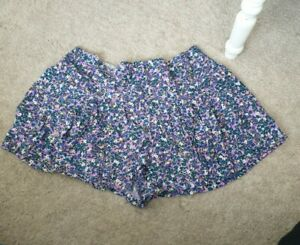 George Size 20 Floaty Floral Shorts holiday summer