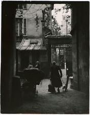 Vintage Betty Statler Mid-Century Paris Street Photograph 1950s Courtyard Scene