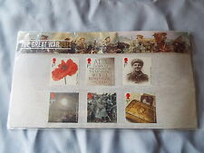 Royal Mail mint THE GREAT WAR 1914 stamp presentation pack no.501 2014 new