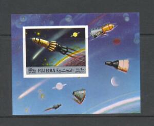 Fujeira 1972 Mi block 103B  Space Exploration MNH