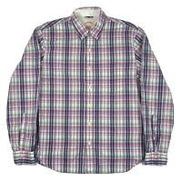 Brooks Brothers Blue Green White Pink Plaid Button Down Shirt Men's Size L
