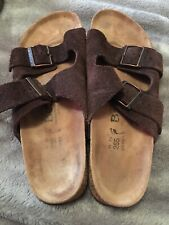 Betula by Birkenstock Arizona 265 Sz 41 L10 M8 BroDouble Strap Leather Brown