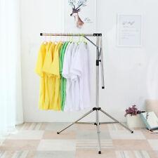 Adjustable Mobile Clothes Coat Garment Hanging Rail Rack Storage Stand Travel.