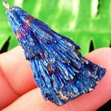 Blue Titanium Crystal Agate Druzy Quartz Geode Freeform Pendant Bead Q37188