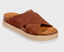 Scholl Malindy Cross Suede Sandals Flip Flops Sliders in Brown Various Sizes