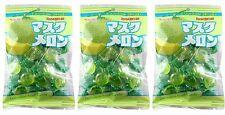 3 BAGS Kasugai Musk Melon Hard Candy Cantaloupe 4.62 oz MuskMelon Japan