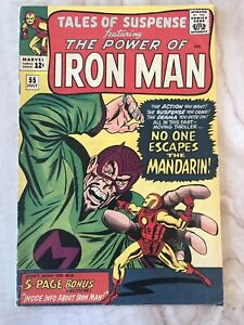 TALES OF SUSPENSE #55-MAP OF IRON MAN'S ARMOR-1ST PEPPER POTTS REAL NAME VG 4.0