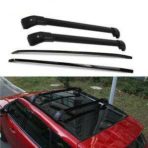Black Roof Racks + Cross Bars Fits for land rover range rover Evoque 2011 - 2019