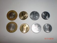 "- INDIA - 4 NEW COINS -RS.10, 5, 2, 1 - 2017(WITH "" R "" SYMBOL) # 5AG"