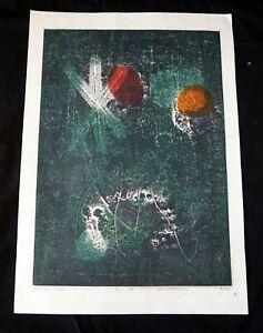 "1965 Japanese Woodblock Print 7/50 ""Constellation"" by Hideo Hagiwara (NiT)"