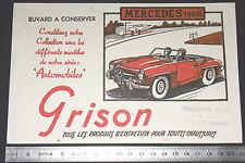 BUVARD 1950 GRISON ENTRETIEN CHAUSSURES AUTOMOBILE AUTO MERCEDES 190 SL BENZ