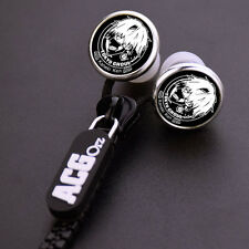 Anime Tokyo Ghoul Logo Stereo Zipper In-Ear Earphone Headphone Mp3 Pc Phone Hot