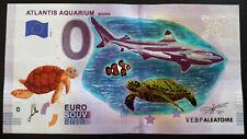 0 euro Souvenir ATLANTIS AQUARIUM MADRID Couleurs Colors 2018 Peint et Signé