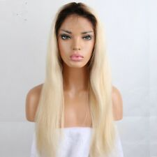 8A Unprocessed Brazillian Ombre 1b/613 Blonde Full Lace Straight Human Hair Wig