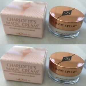 2x Charlotte Tilbury Charlotte's Magic Cream Moisturizer 7 ml / .2 oz ea BNIB