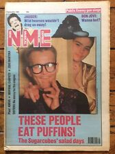 NME 2/9/89 The Sugarcubes cover, The Rolling Stones, The Soup Dragons, Bon Jovi